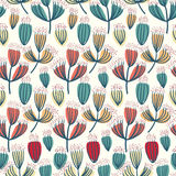 Dry flower seamless pattern background Stock Photos