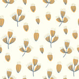 Dry flower seamless pattern background Stock Images