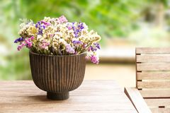Dry flower in vase Royalty Free Stock Photo