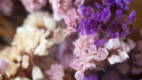 Dry flowers in bouquet stock images