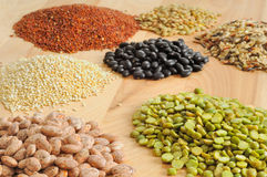 Dry food array Royalty Free Stock Photos