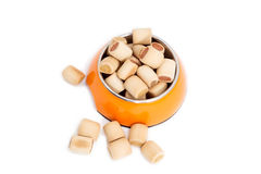 Dry food for dogs in bowl Stock Photos