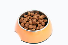 Dry Food For Dog Over White Stock Photo