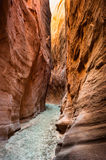 Dry fork slot canyon. Grand staircase national monument, escalante, utah, usa Royalty Free Stock Image