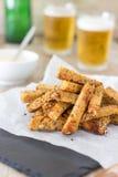 Dry-Fried Garlic Bread Sticks - Party Snack stock image