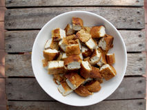Dry Fried Tofu Stock Image