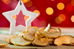 Dry fruit with Christmas star Royalty Free Stock Images