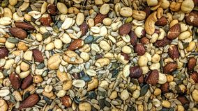 Dry fruit mix in loose. Can be used as a background or wallpaper and for other possibility or to modify to your taste royalty free stock images