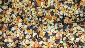 Dry fruit mix in loose. Can be used as a background or wallpaper and for other possibility or to modify to your taste royalty free stock photo