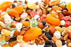 Dry fruit and nuts Stock Photography