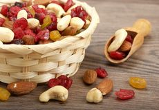Dry fruit with nuts Royalty Free Stock Photography