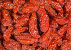 Dry fruit red goji berry. Royalty Free Stock Images