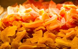 Dry fruit sell in market stock image