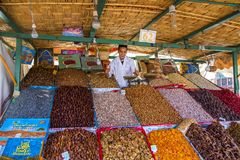 Dry fruit seller Royalty Free Stock Image