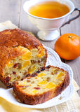 Dry fruit and tangerine cake Royalty Free Stock Photo