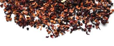 Dry fruit tea on white background stock photography
