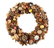 Dry fruit wreath Stock Image