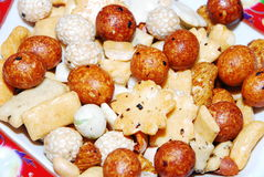 Dry fruits. Delicious cocktail - mixed nuts and dried fruits oriental Stock Images