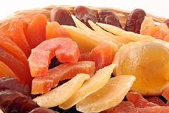 Dry Fruits. On a withe background Stock Photography