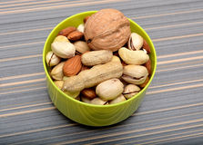 Dry Fruits in Bown on table closeup Royalty Free Stock Photos