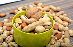 Dry fruits closeup view on table Stock Photography