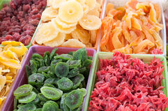 Dry fruits. Healthy delicious dry fruits on a market Stock Photos
