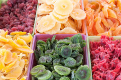 Dry fruits. Healthy delicious dry fruits on a market Royalty Free Stock Images