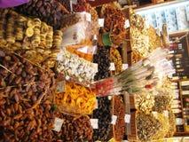 dry-fruits-at-the-market Royalty Free Stock Photos
