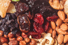 Dry fruits and nuts Royalty Free Stock Photos