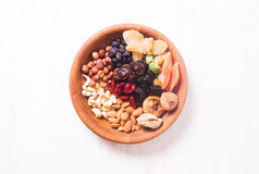 Dry fruits and nuts Stock Photography