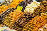 Dry fruits on the Spice market of Istanbul Stock Image