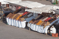 Dry fruits and nuts stand in Marrakesch Stock Photography