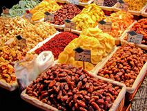 Dry Fruits Piles Royalty Free Stock Images