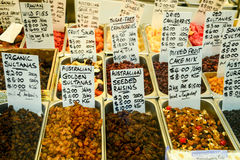 Dry fruits for sale Royalty Free Stock Photography
