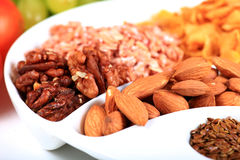 Dry fruits and seeds Stock Image