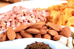 Dry fruits and seeds Royalty Free Stock Photo