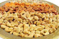 Dry fruits, shallow depth of focus on cashew Stock Images
