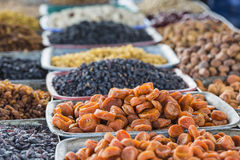 Dry fruits and spices like cashews, raisins, cloves, anise, etc. Royalty Free Stock Photo