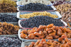 Dry fruits and spices like cashews, raisins, cloves, anise, etc. Royalty Free Stock Photos
