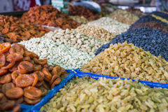 Dry fruits and spices like cashews, raisins, cloves, anise, etc. Royalty Free Stock Image