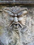 Dry Gargoyle Fountain, Tivoli, Italy Stock Photo