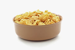 Dry Generic Corn Flakes in Bowl. A dish of dry generic brand corn flakes Stock Photo