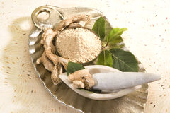 Dry Ginger or Ginger Powder Royalty Free Stock Image