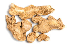 Dry ginger root (Zingiber officinale) Royalty Free Stock Photography