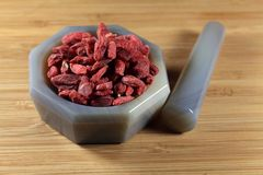 Dry goji berries Stock Images