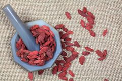 Dry goji berries Royalty Free Stock Image