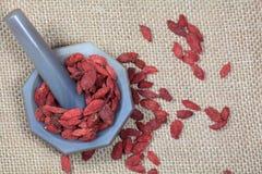 Dry goji berries Royalty Free Stock Image