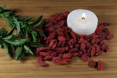 Dry goji berries Stock Photography