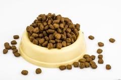 Dry granulated animal feed Stock Photo