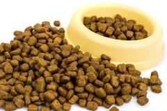 Dry granulated animal feed Royalty Free Stock Photos